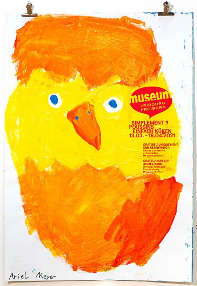 """Une des affiches de l'exposition """"Simplement Poussins""""_29"""