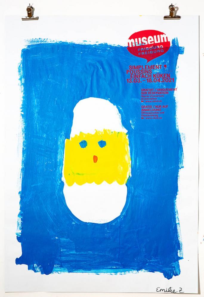 """Une des affiches de l'exposition """"Simplement Poussins""""_49"""