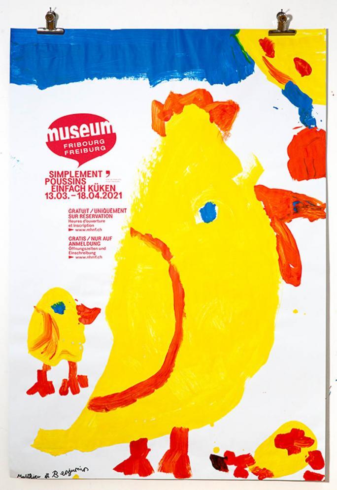 """Une des affiches de l'exposition """"Simplement Poussins""""_50"""