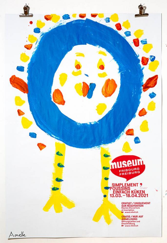 """Une des affiches de l'exposition """"Simplement Poussins""""_58"""