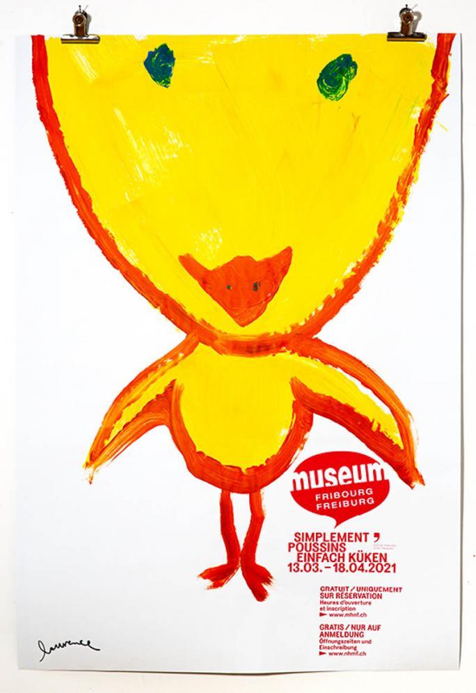 """Une des affiches de l'exposition """"Simplement Poussins""""_64"""