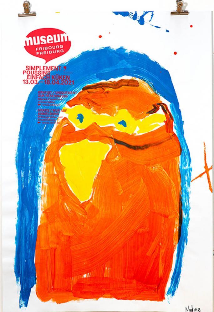 """Une des affiches de l'exposition """"Simplement Poussins""""_66"""