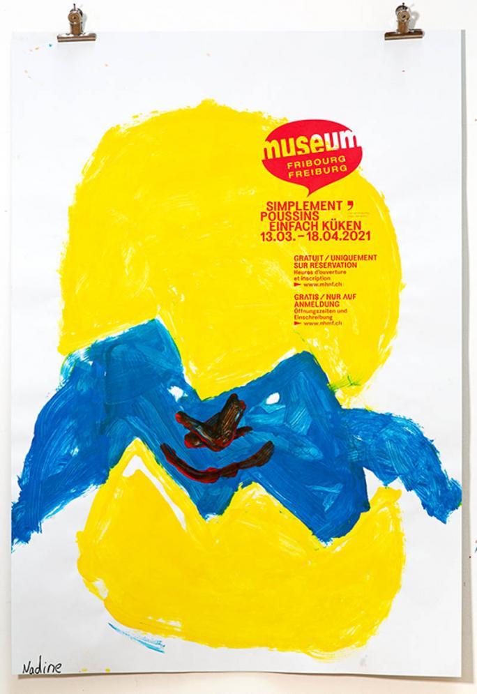 """Une des affiches de l'exposition """"Simplement Poussins""""_67"""