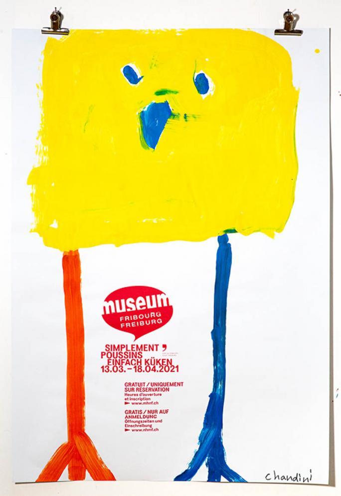 """Une des affiches de l'exposition """"Simplement Poussins""""_70"""