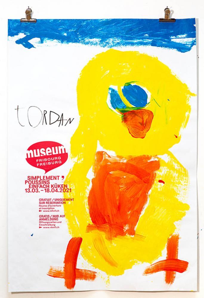 """Une des affiches de l'exposition """"Simplement Poussins""""_72"""