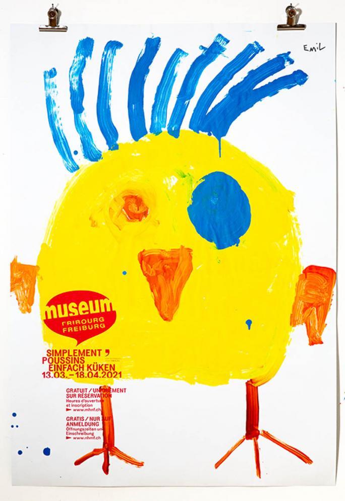 """Une des affiches de l'exposition """"Simplement Poussins""""_76"""