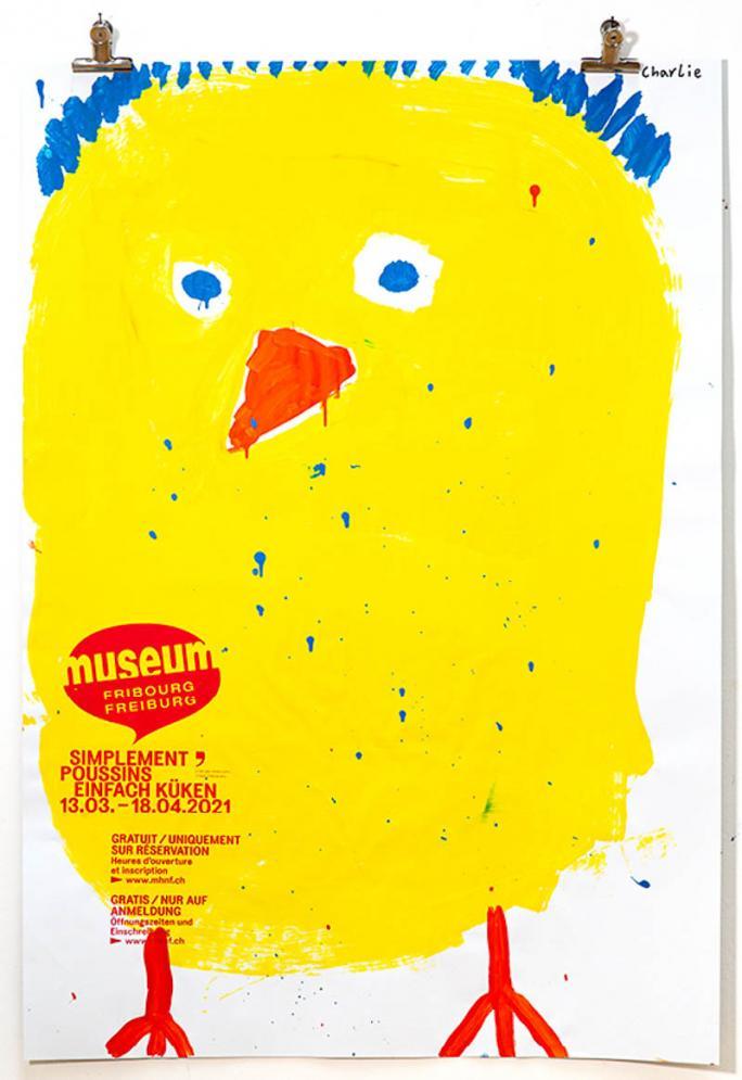 """Une des affiches de l'exposition """"Simplement Poussins""""_77"""