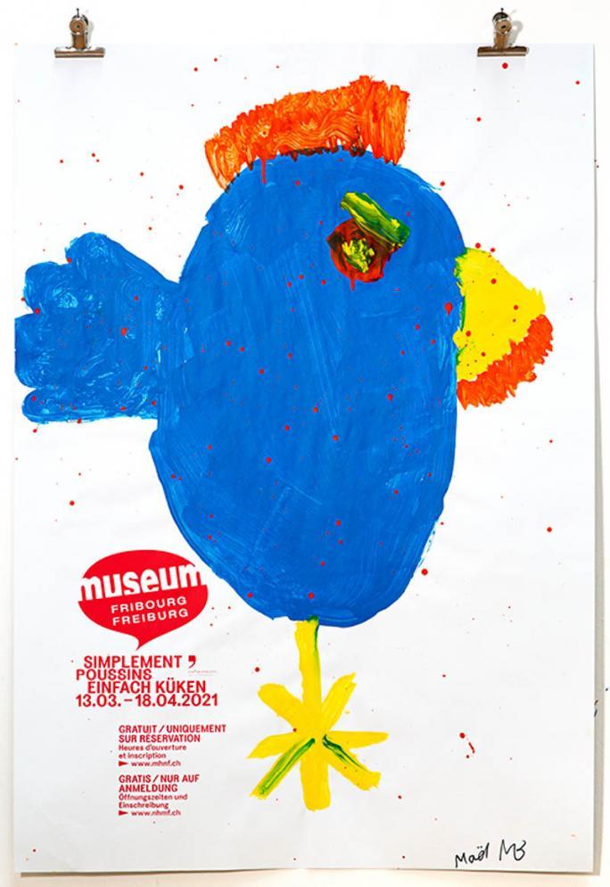 """Une des affiches de l'exposition """"Simplement Poussins""""_79"""