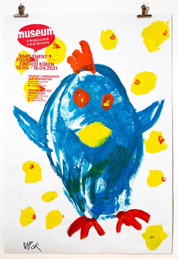 """Une des affiches de l'exposition """"Simplement Poussins""""_80"""
