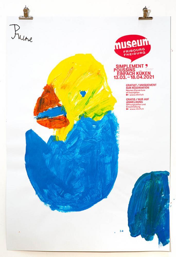 """Une des affiches de l'exposition """"Simplement Poussins""""_81"""