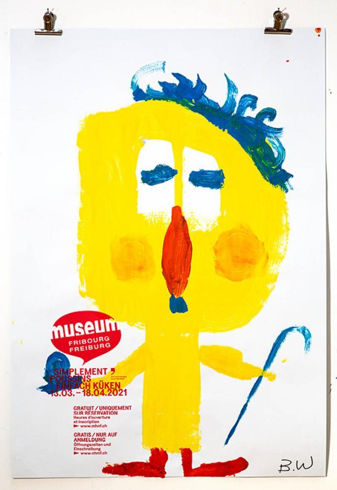 """Une des affiches de l'exposition """"Simplement Poussins""""_83"""