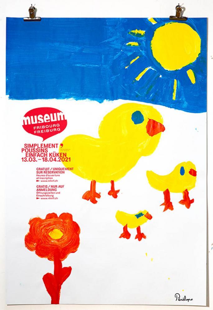 """Une des affiches de l'exposition """"Simplement Poussins""""_85"""