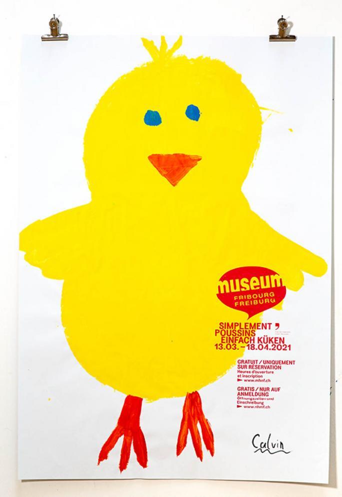 """Une des affiches de l'exposition """"Simplement Poussins""""_88"""