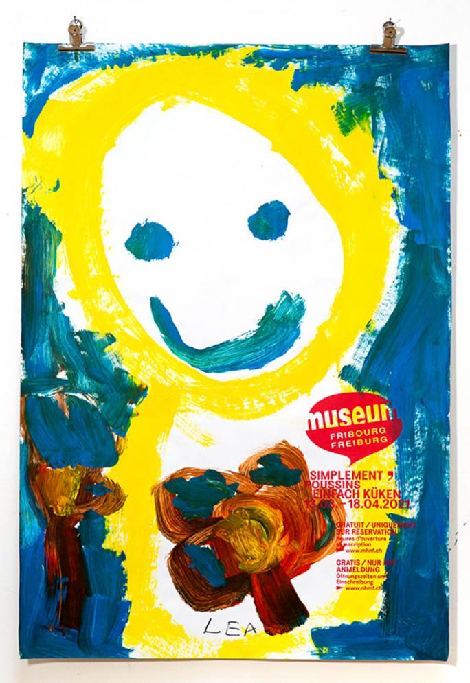 """Une des affiches de l'exposition """"Simplement Poussins""""_89"""