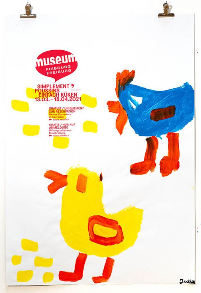"""Une des affiches de l'exposition """"Simplement Poussins""""_91"""