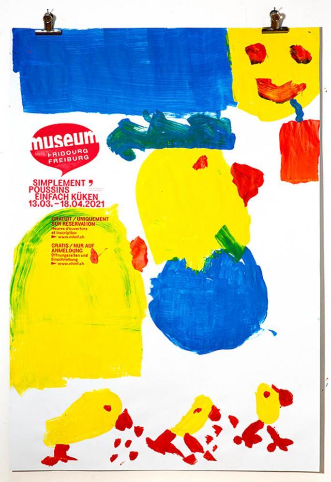 """Une des affiches de l'exposition """"Simplement Poussins""""_92"""