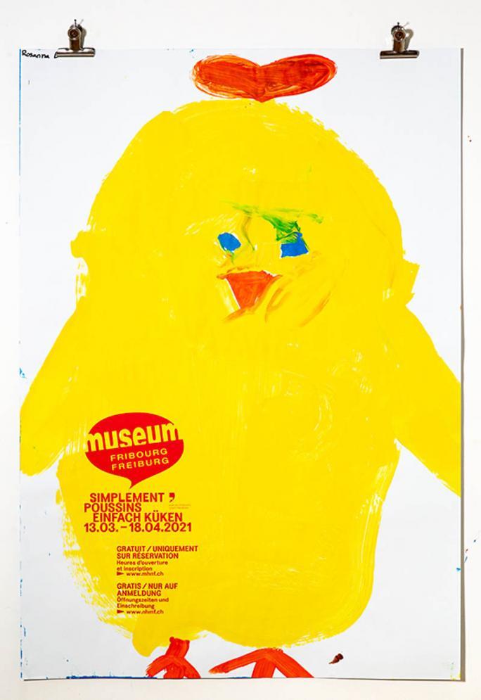 """Une des affiches de l'exposition """"Simplement Poussins""""_93"""