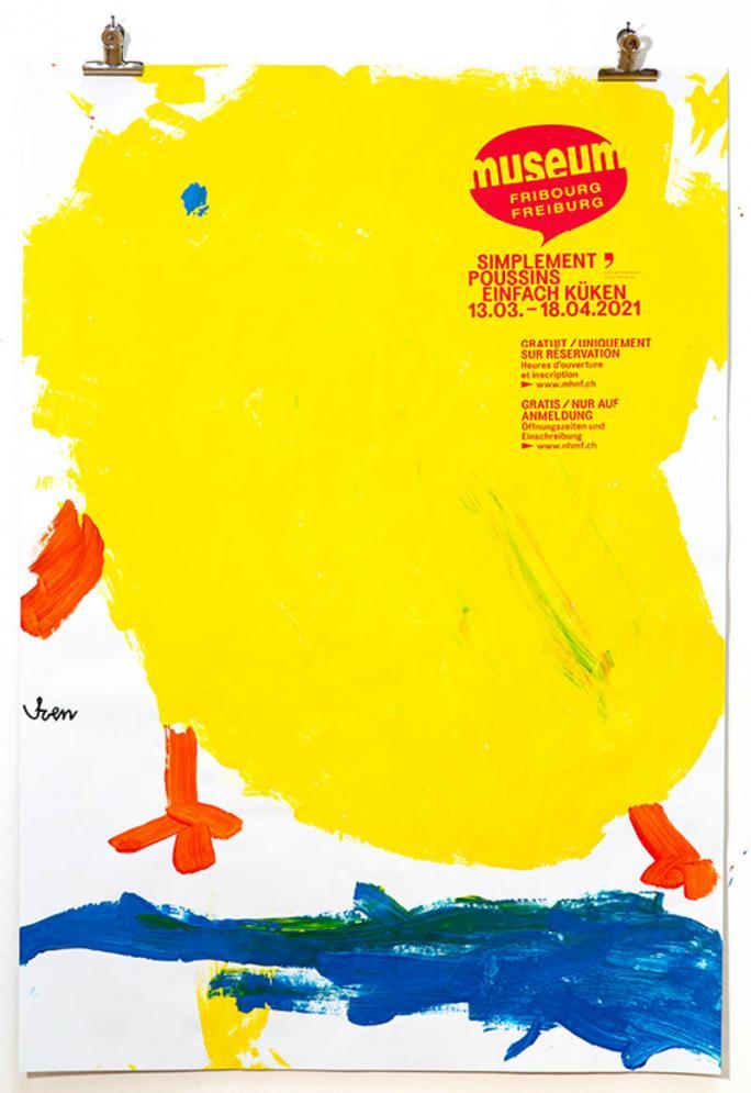 """Une des affiches de l'exposition """"Simplement Poussins""""_94"""