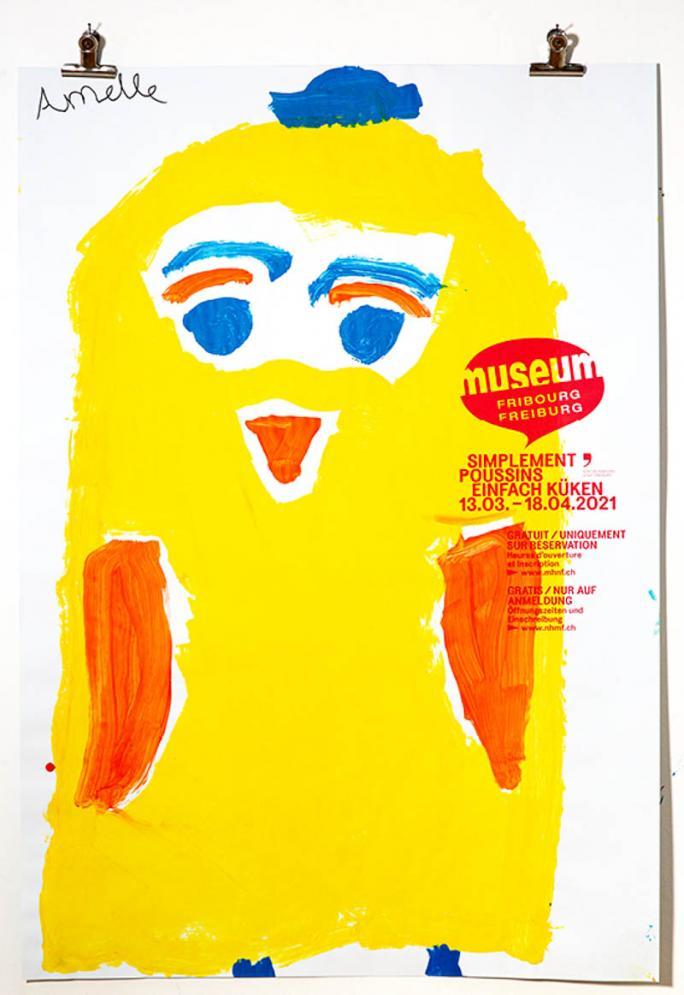 """Une des affiches de l'exposition """"Simplement Poussins""""_95"""
