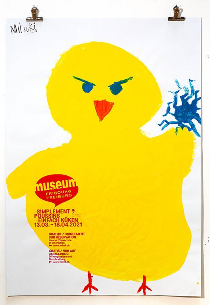 """Une des affiches de l'exposition """"Simplement Poussins""""_96"""