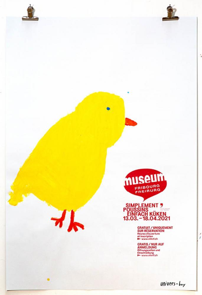 """Une des affiches de l'exposition """"Simplement Poussins""""_98"""