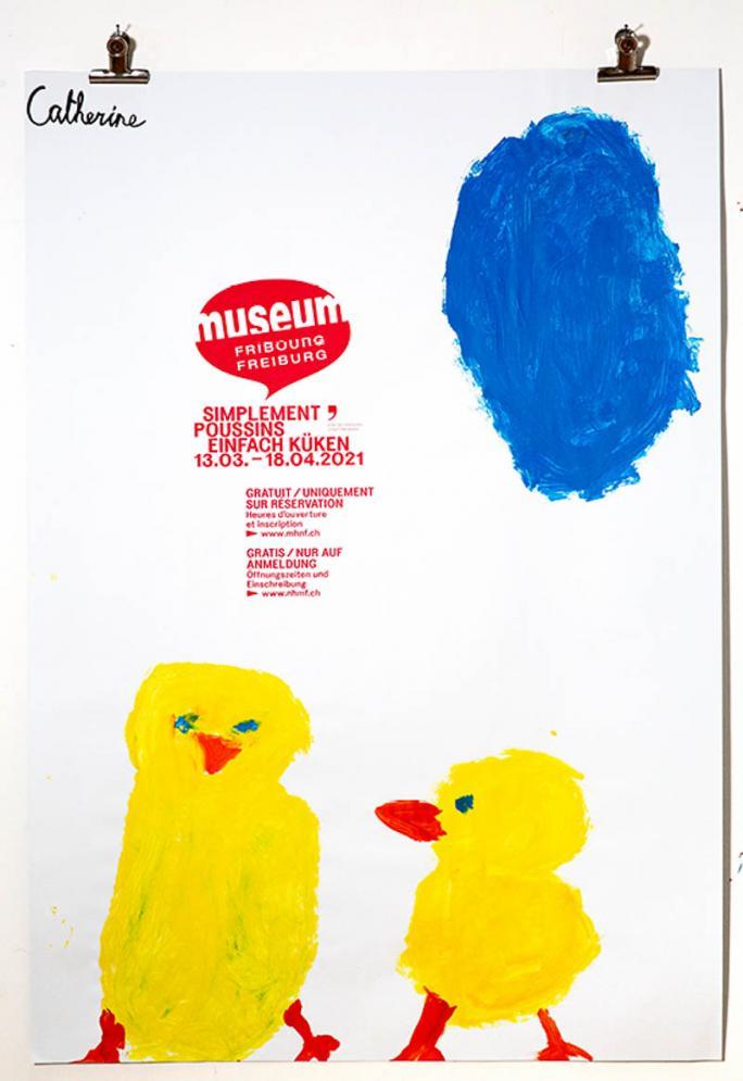 """Une des affiches de l'exposition """"Simplement Poussins""""_99"""