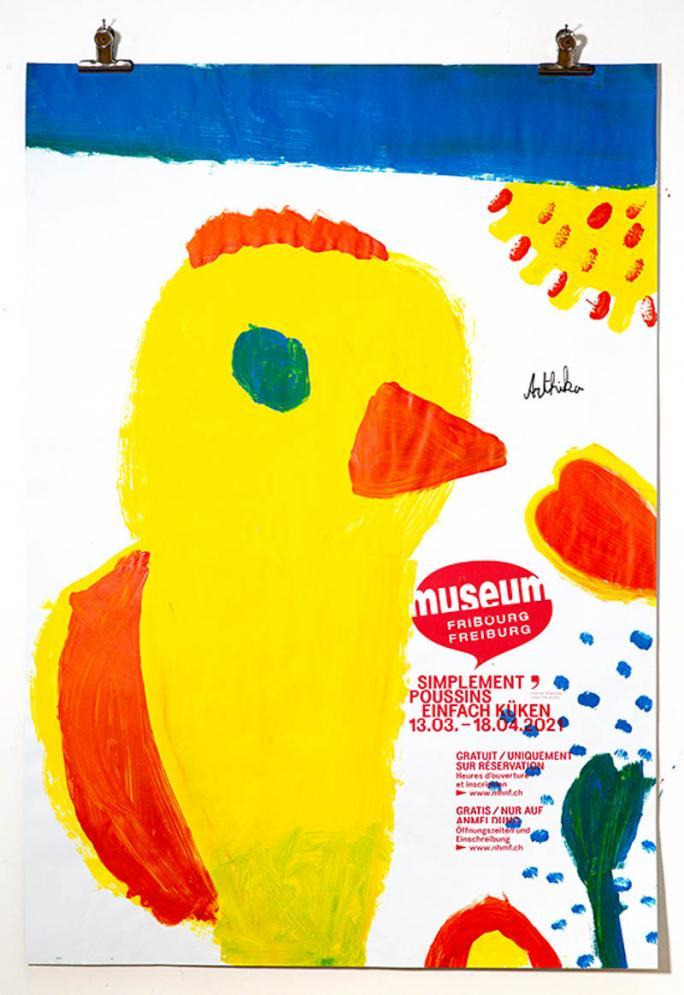 """Eines der Plakate der Ausstellung """"Einfach Küken""""_1"""