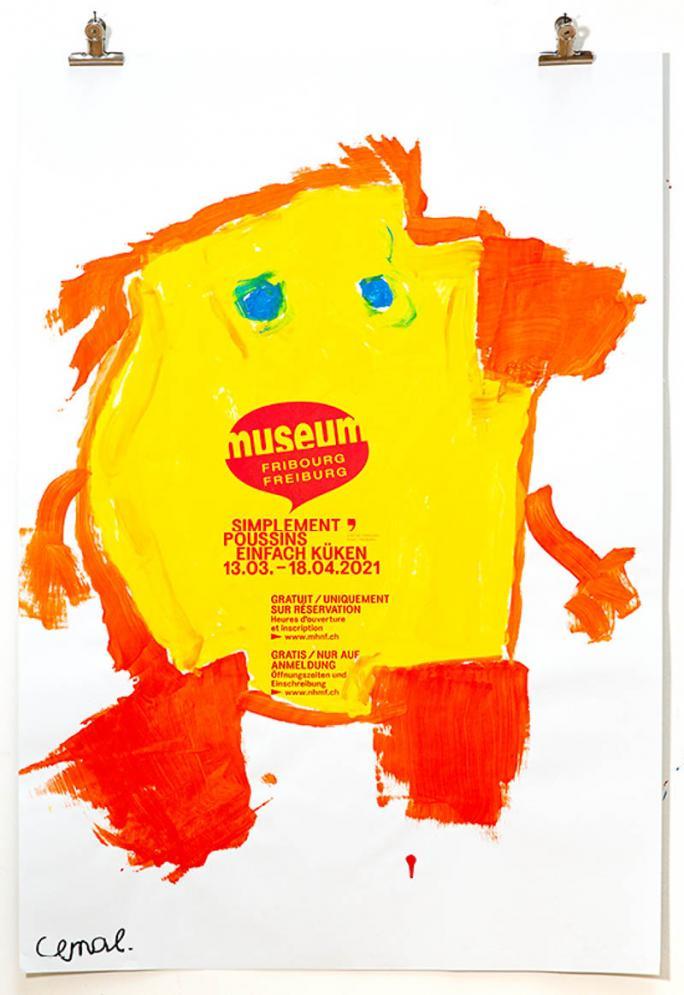 """Eines der Plakate der Ausstellung """"Einfach Küken""""_10"""