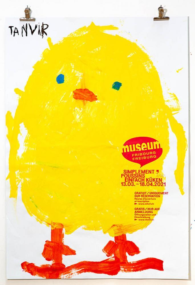 """Eines der Plakate der Ausstellung """"Einfach Küken""""_100"""