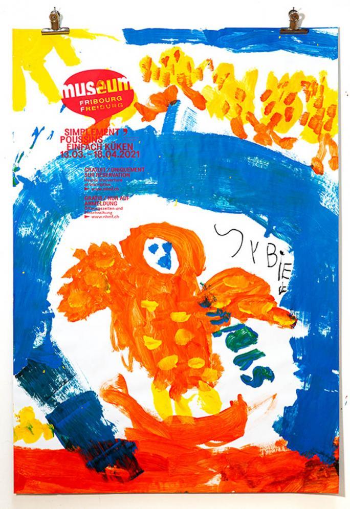 """Eines der Plakate der Ausstellung """"Einfach Küken""""_104"""