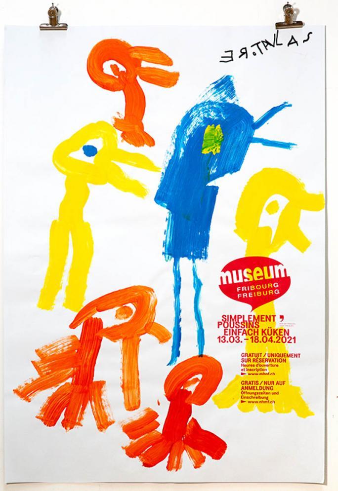"""Eines der Plakate der Ausstellung """"Einfach Küken""""_108"""