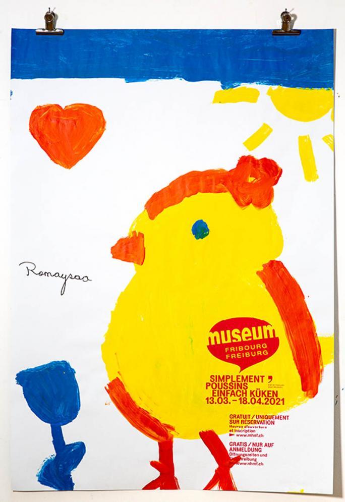 """Eines der Plakate der Ausstellung """"Einfach Küken""""_109"""
