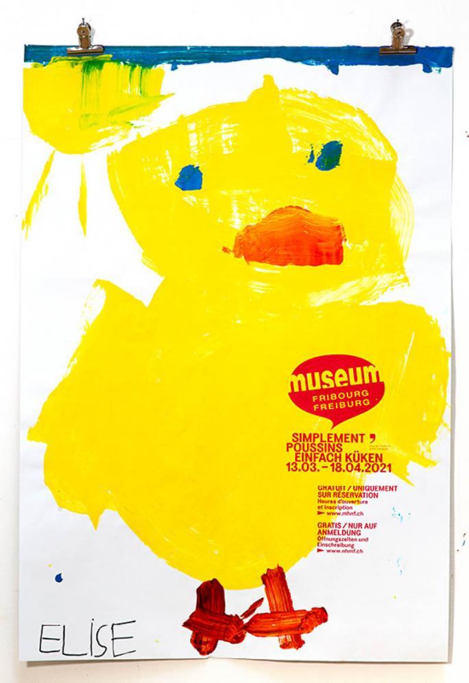 """Eines der Plakate der Ausstellung """"Einfach Küken""""_11"""