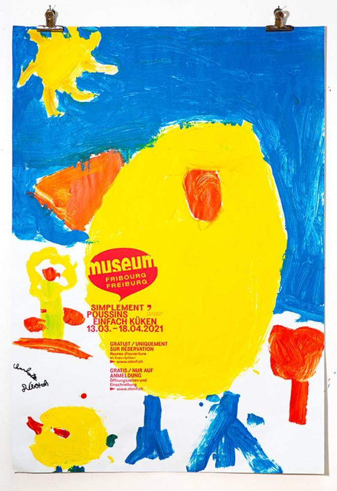 """Eines der Plakate der Ausstellung """"Einfach Küken""""_110"""