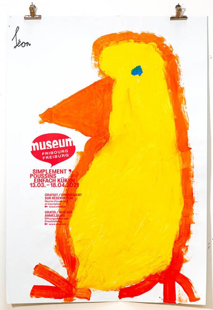"""Eines der Plakate der Ausstellung """"Einfach Küken""""_113"""
