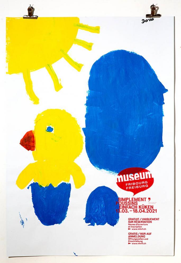 """Eines der Plakate der Ausstellung """"Einfach Küken""""_115"""