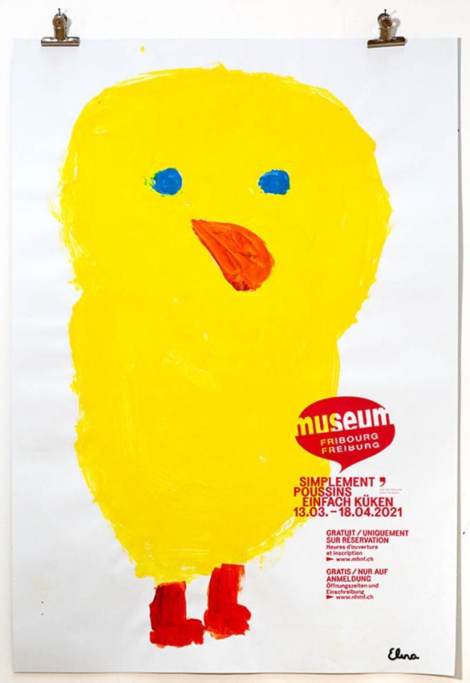 """Eines der Plakate der Ausstellung """"Einfach Küken""""_119"""