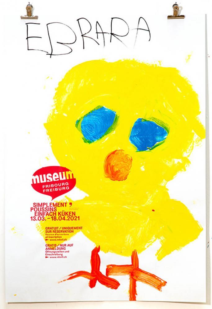"""Eines der Plakate der Ausstellung """"Einfach Küken""""_13"""