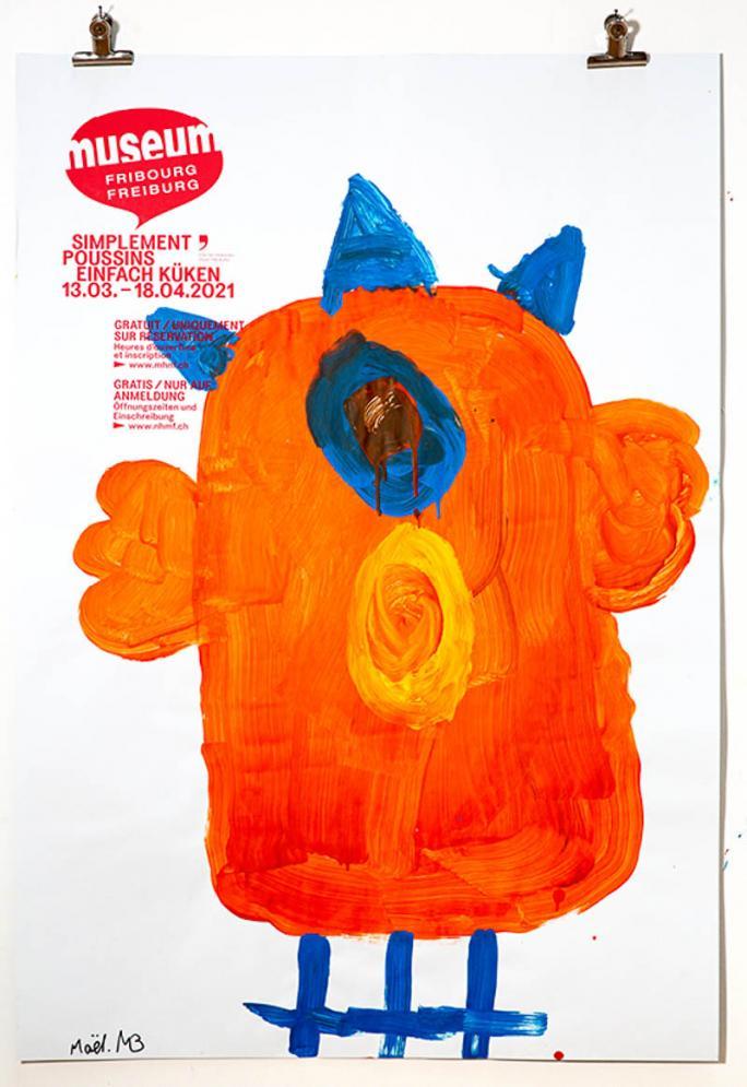 """Eines der Plakate der Ausstellung """"Einfach Küken""""_14"""