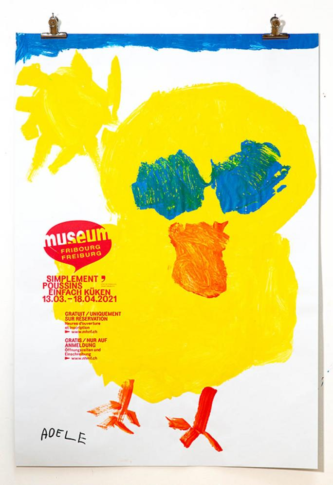 """Eines der Plakate der Ausstellung """"Einfach Küken""""_15"""