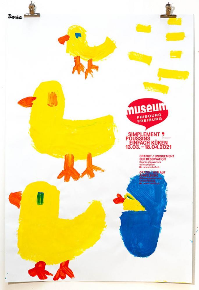 """Eines der Plakate der Ausstellung """"Einfach Küken""""_17"""