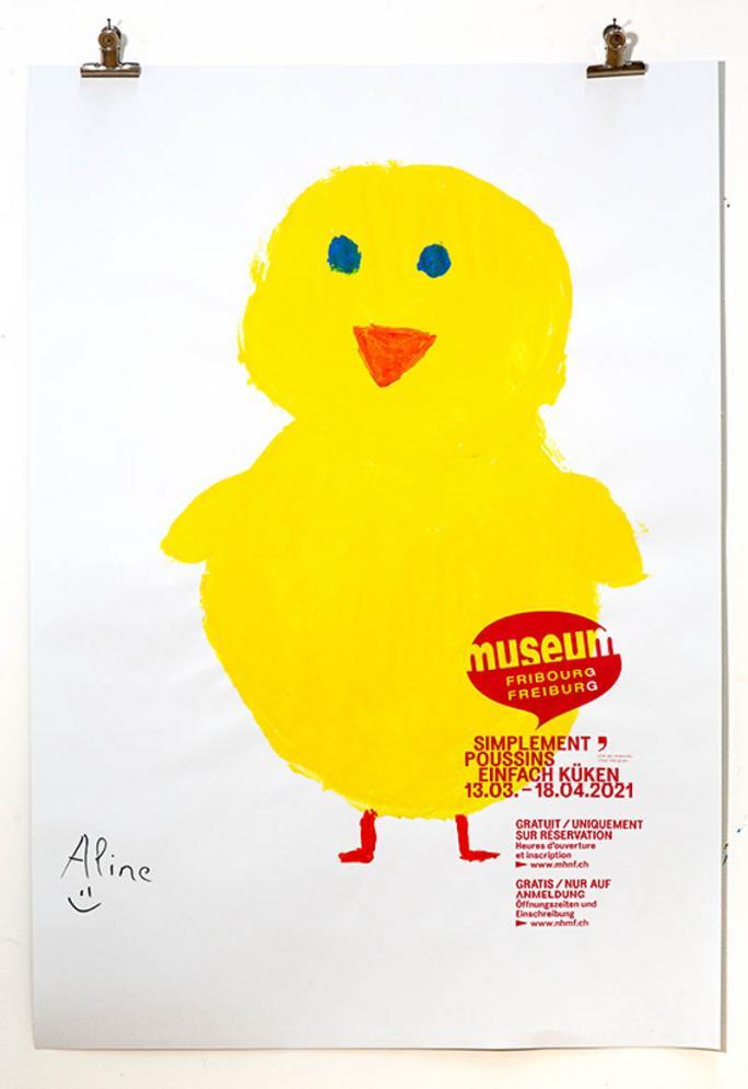 """Eines der Plakate der Ausstellung """"Einfach Küken""""_19"""