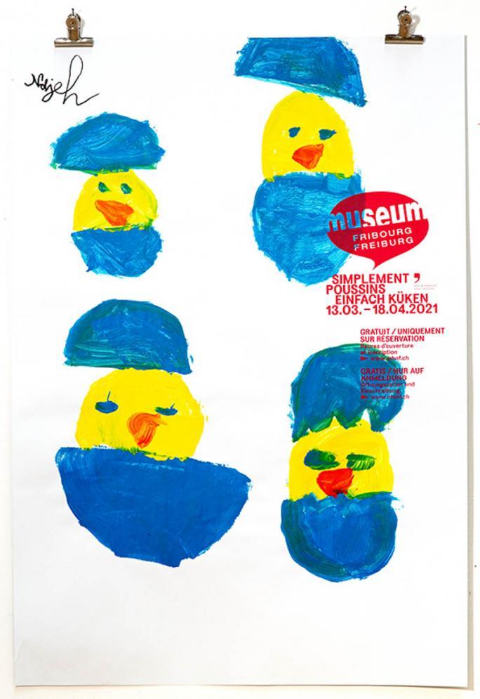 """Eines der Plakate der Ausstellung """"Einfach Küken""""_22"""