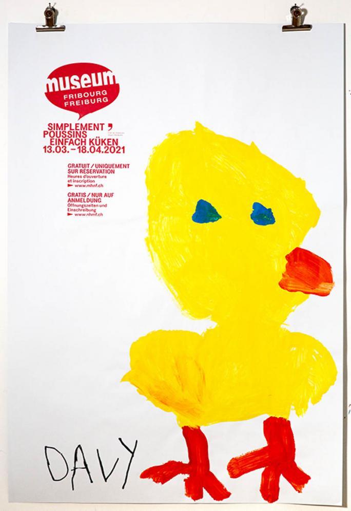 """Eines der Plakate der Ausstellung """"Einfach Küken""""_24"""