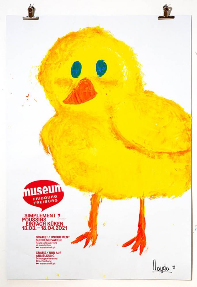"""Eines der Plakate der Ausstellung """"Einfach Küken""""_25"""