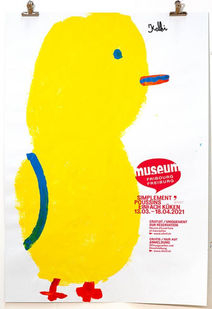 """Eines der Plakate der Ausstellung """"Einfach Küken""""_26"""
