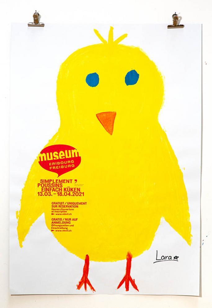 """Eines der Plakate der Ausstellung """"Einfach Küken""""_27"""