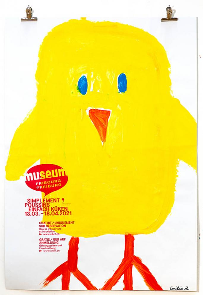"""Eines der Plakate der Ausstellung """"Einfach Küken""""_30"""