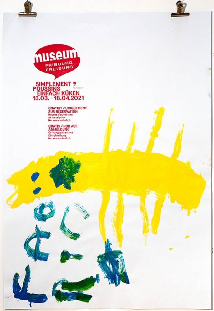 """Eines der Plakate der Ausstellung """"Einfach Küken""""_31"""