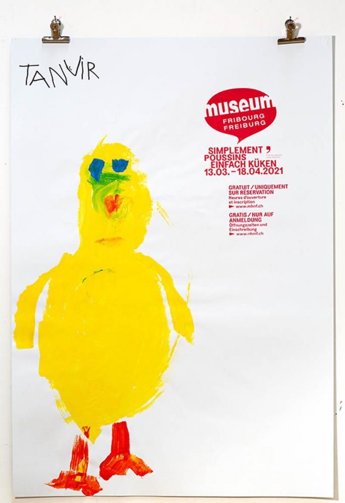 """Eines der Plakate der Ausstellung """"Einfach Küken""""_32"""